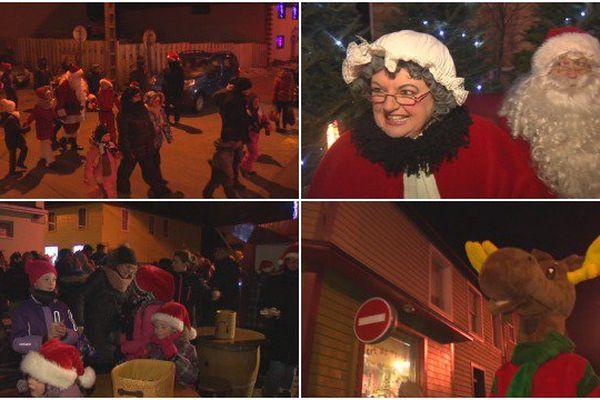 Parade du Père Noël dans les rues de Saint-Pierre