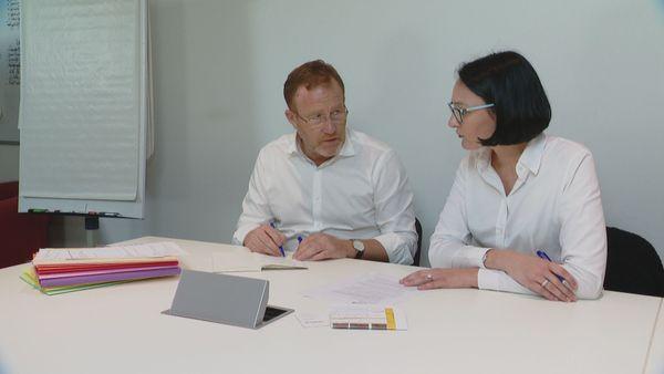 Bruno Heriche, nouveau directeur de Newrest NC, et Aurélie Gueguen René, vice-présidente Asie-Pacifique, juillet 2018