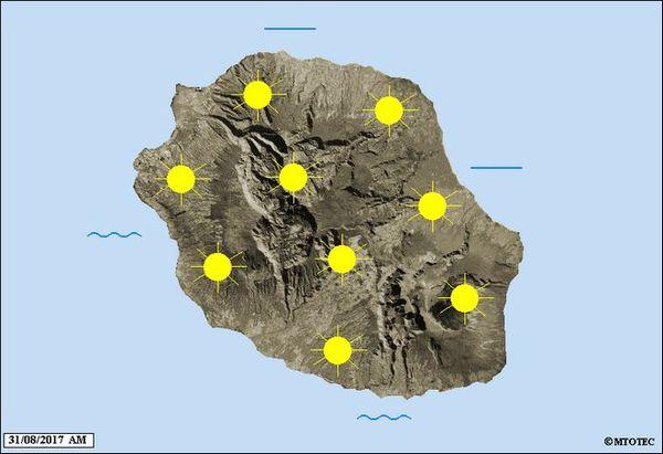 Carte météo jeudi 31 août 2017