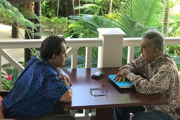 Oscar Temaru et Edouard Fritch au forum des îles du Pacifique