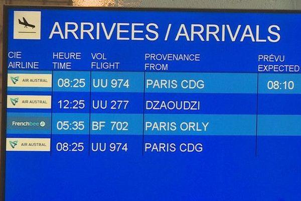 aéroport vols à l'arrivée à La Réunion 120720
