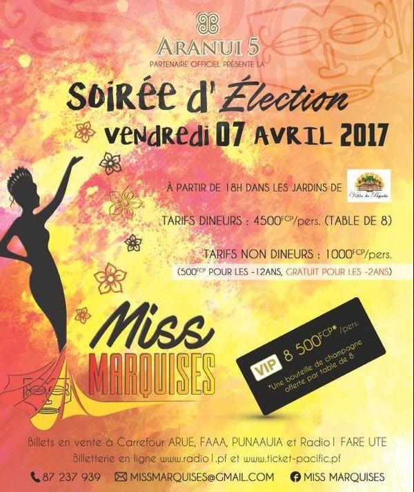 Soirée d'election de Miss Marquises