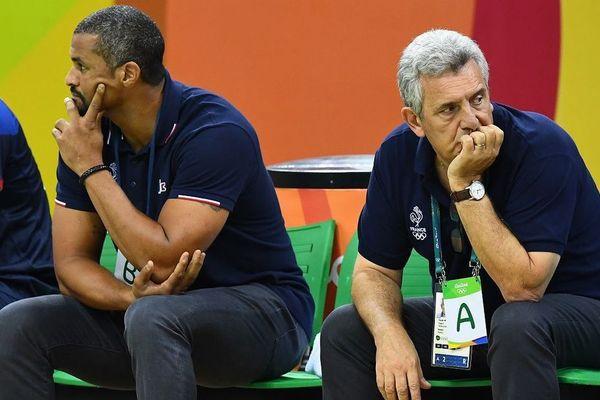 Didier Dinart et Claude Onesta aux JO de Rio en 2016. Dinart était alors adjoint du sélectionneur