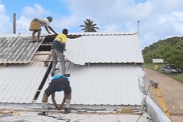 la toiture de l'hôpital de Futuna