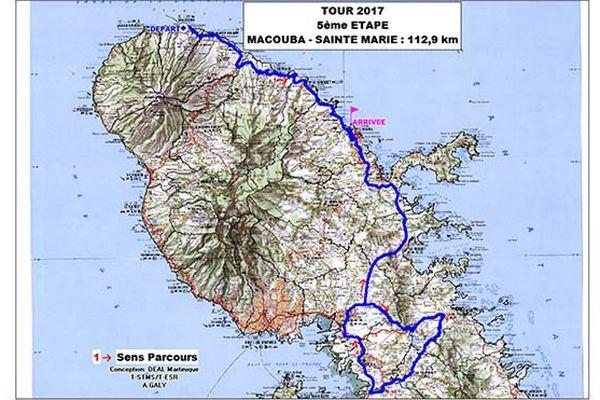 itinéraire de la 5e étape du 36e tour