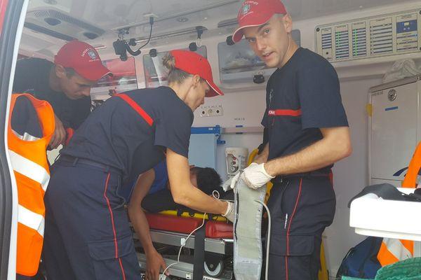 Intervention pompiers exercice EEC Magenta 3 (14 juin 2017)