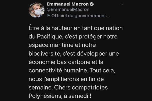 Voyage d'Emmanuel Macron en Polynésie : un programme chargé