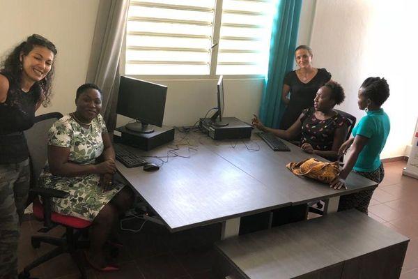 Inauguration de l'open space des Premières de Guyane à Cayenne