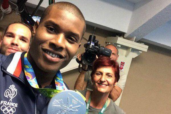 Medhy Metella et sa médaille d'argent