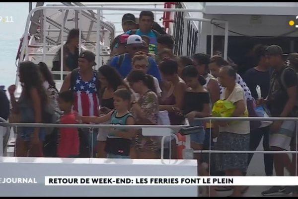 Retour de week-end prolongé : Les ferries font le plein