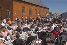 La place des Ardilliers à Miquelon n'a pas désempli en ce 14 juillet.