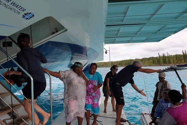 Visite organisée à bord