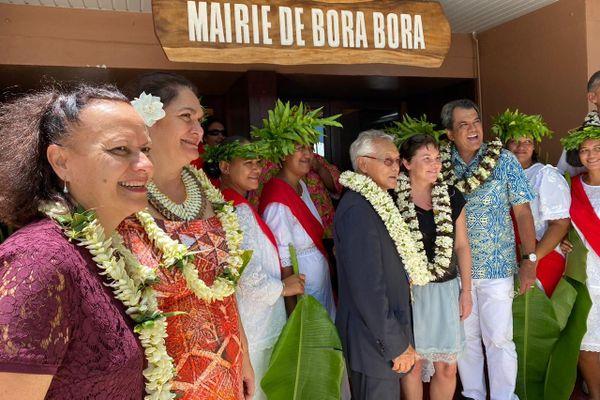 La journée marathon d'Annick Girardin à Bora Bora