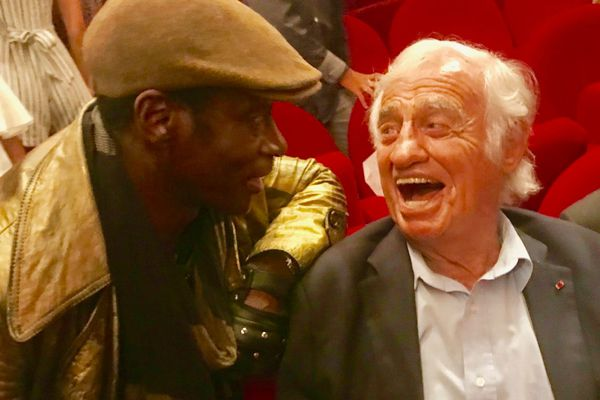 SidiKi Bakaba et Jean-Paul Belmondo