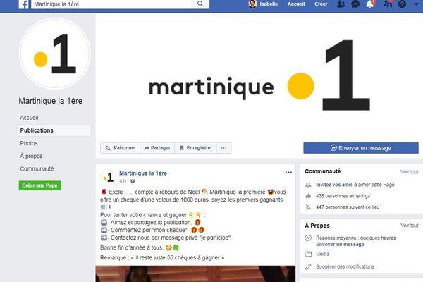 Facebook Martinique la 1ere