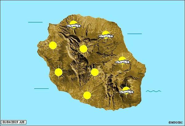 Carte météo 1 avril 2019