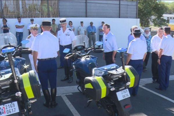 Koné : peloton motorisé de gendarmerie