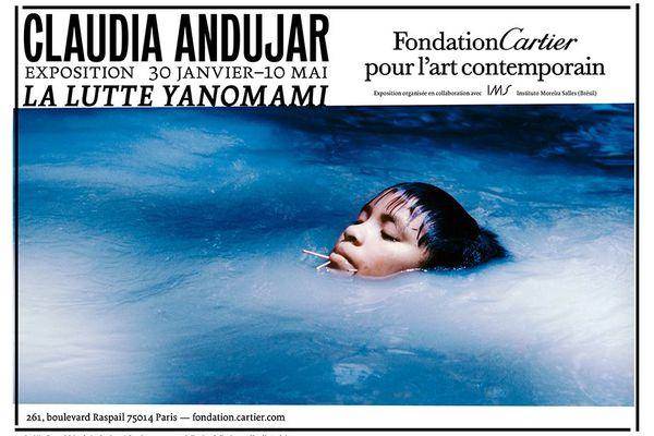 Affiche expo Claudia Andujar