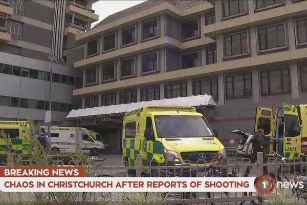 Fusillades de Christchurch, arrivée des victimes à l'hôpital.