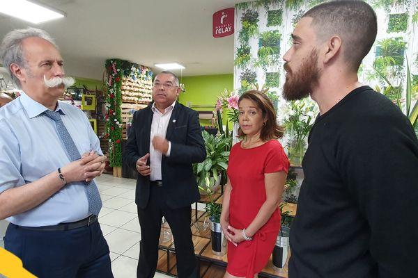 Bernard Stalfer à la Réunion pour la Semaine National de l'Artisanat