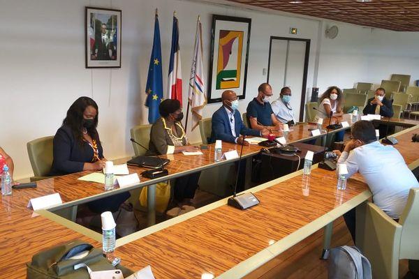 Guyane : Conf presse CTG suite au renforcement des mesures de freinage de la CIC/préfecture