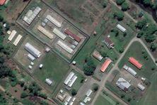 La prison de Buimo, à Lae, vue du ciel.