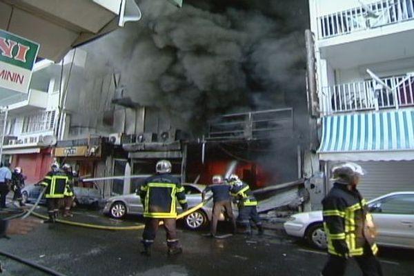 Incendie Sadi Carnot, bazar chinois 21/12/2007