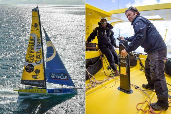 """Rodolphe Sépho et Arnaud Boissières, skippers """"La Mie Câline"""""""