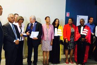 George Pau-Langevin, la ministre des outre-mer en Guadeloupe