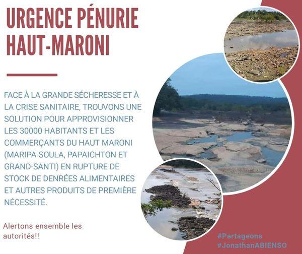 Appel à l'aide des communes du fleuve - visuel sécheresse