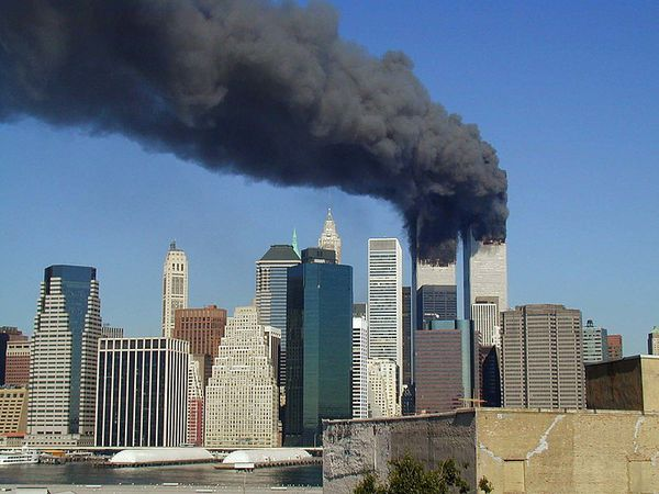 World Trade center en feu 11 septembre 2001