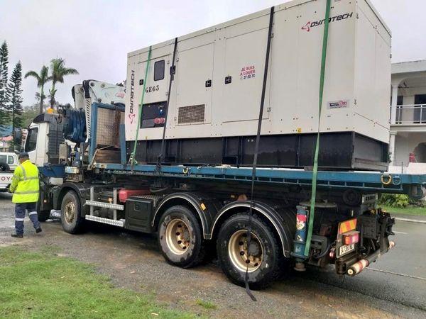 Pluies et coupure de courant à Païta, 13 avril 2021? groupe électrogène Enercal