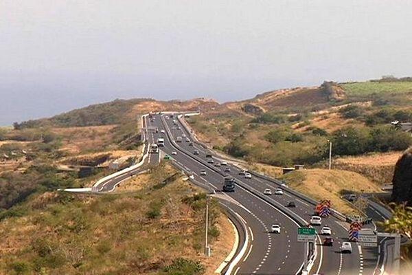 Route des Tamarins (vue aérienne)