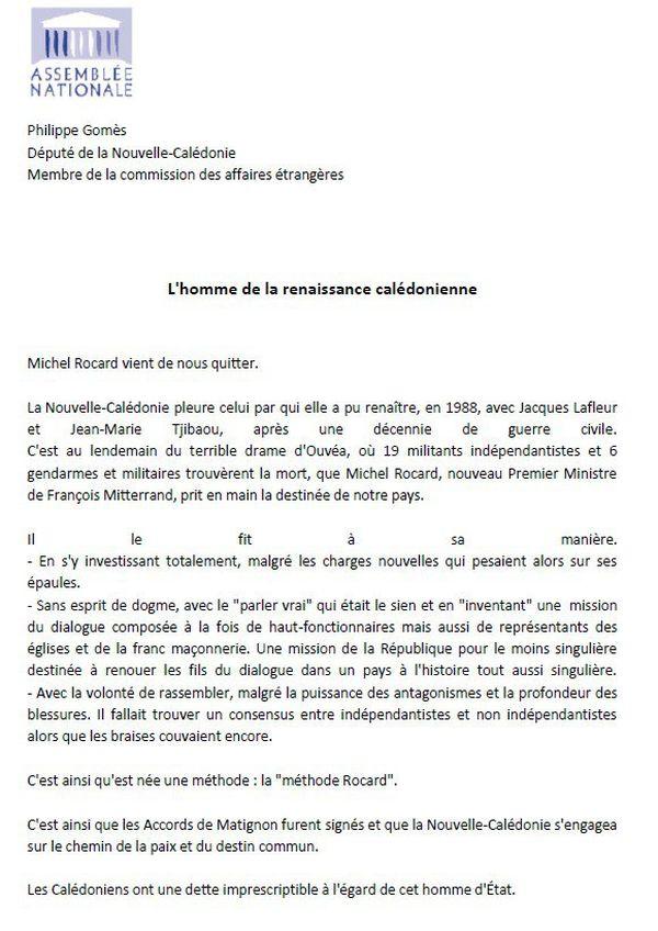 Rocard réaction Gomès