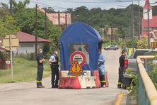 Le point de contrôle à Iracoubo