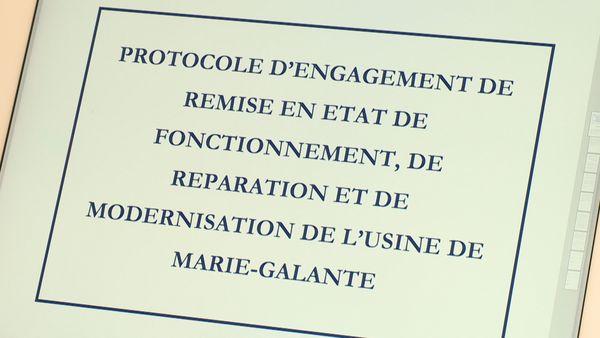 protocole d'accord d'engagement de remise en état de fonctionnement, de réparation et de modernisation de l'usine de Marie-Galante