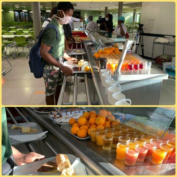 Petit-déjeuner au lycée des Lumières de Mamoudzou Nord