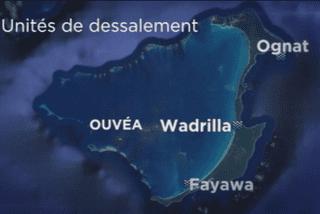 Ouvéa : carte des unités de dessalement