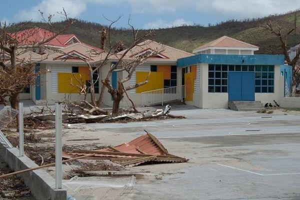 Une école de Saint-Martin après le passage d'Irma.