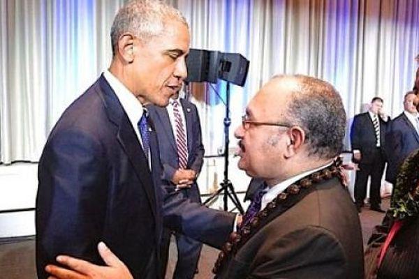 Barack Obama et Peter O'Neil