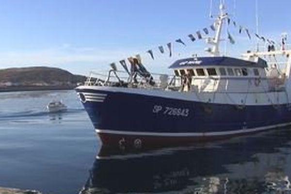 Le Cap Marie, nouveau chalutier du groupe Pêcheurs du Nord, est arrivé à Miquelon