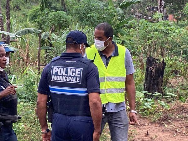 Police municipale de Matoury associée à l'opération