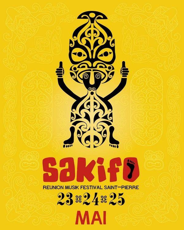 """Affiche """" Festival Sakifo 2014 """""""