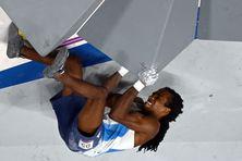 Mickael Mawem a terminé cinquième du premier tournoi olympique d'escalade, à Tokyo.