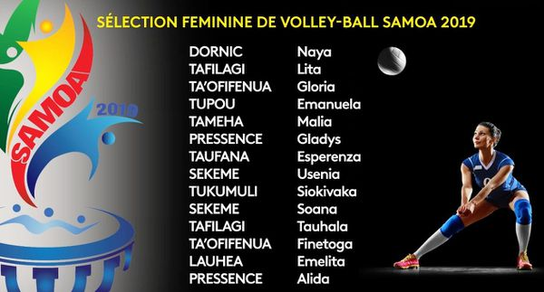 Samoa 2019 : volleyball sélection files