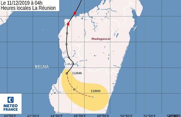 Carte météo Belna 4 décembre 2019