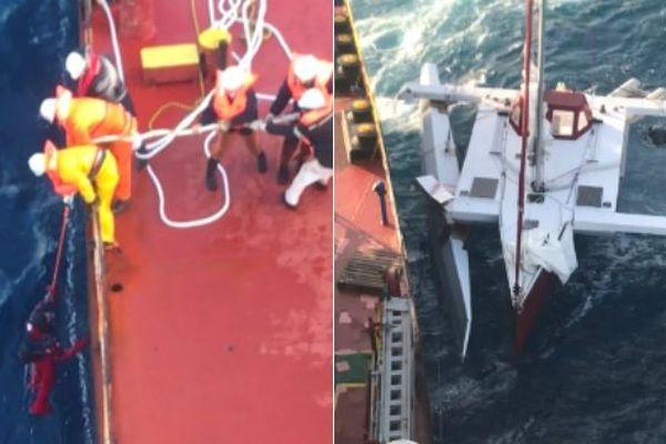 Sauvetage en mer d'un skipper Français au large du Chili