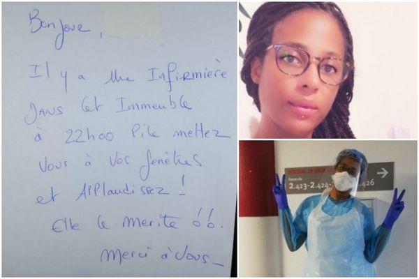 Guylaine Torcy, infirmière guadeloupéenne à l'hôpital Saint-Joseph à Paris