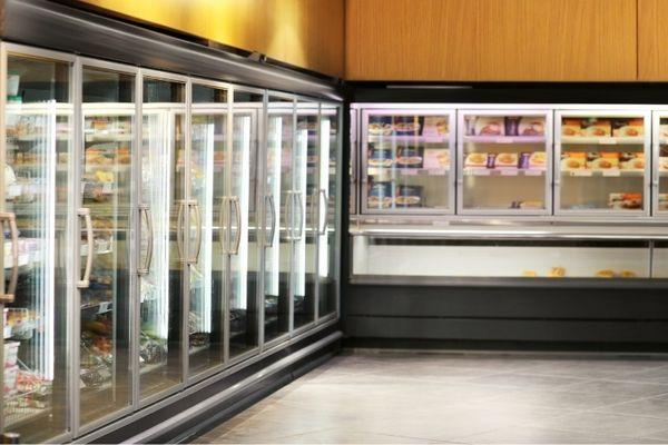 Congélateur de supermarché