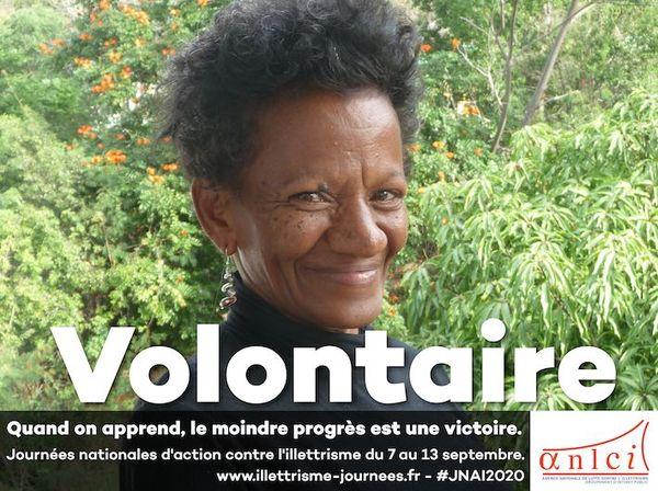 Affiche pour les Journées 2020 d'cation contre l'illettrisme